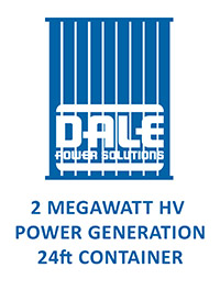 2MW HV Power Generation 24ft Container